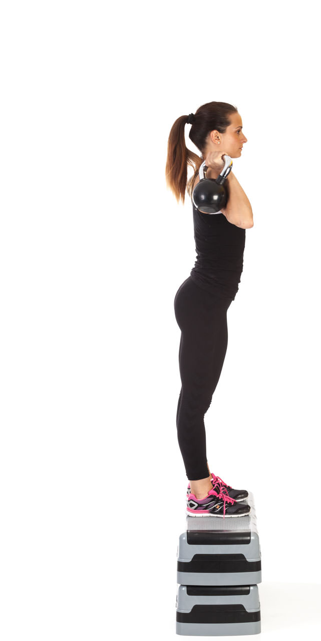 Step-Up Two-Arm Kettlebell Press frame #3