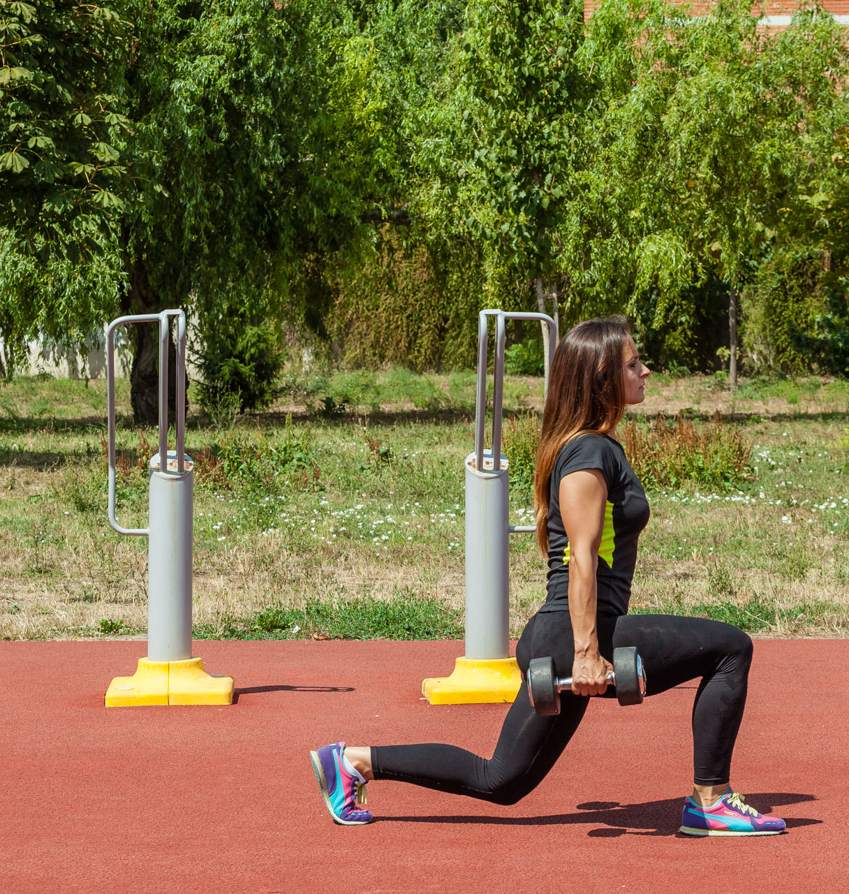 Dumbbell Lunges frame #2