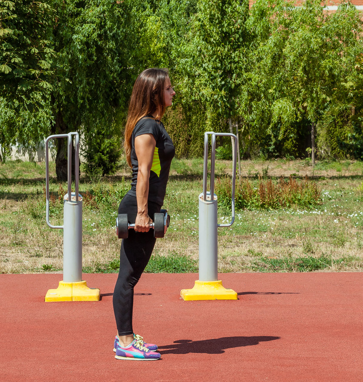Dumbbell Lunges frame #3