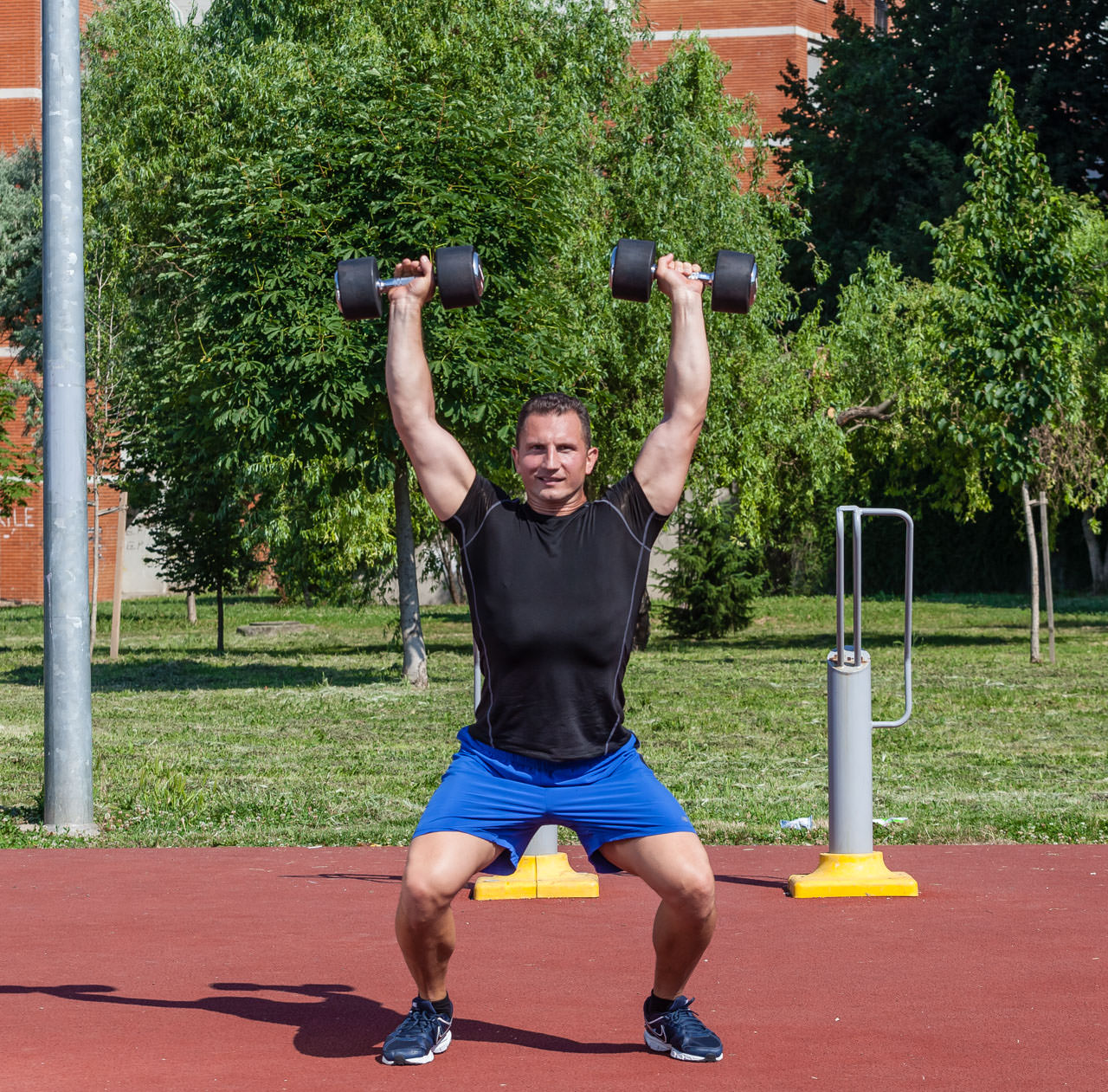 Two-Arm Dumbbell Snatch frame #2