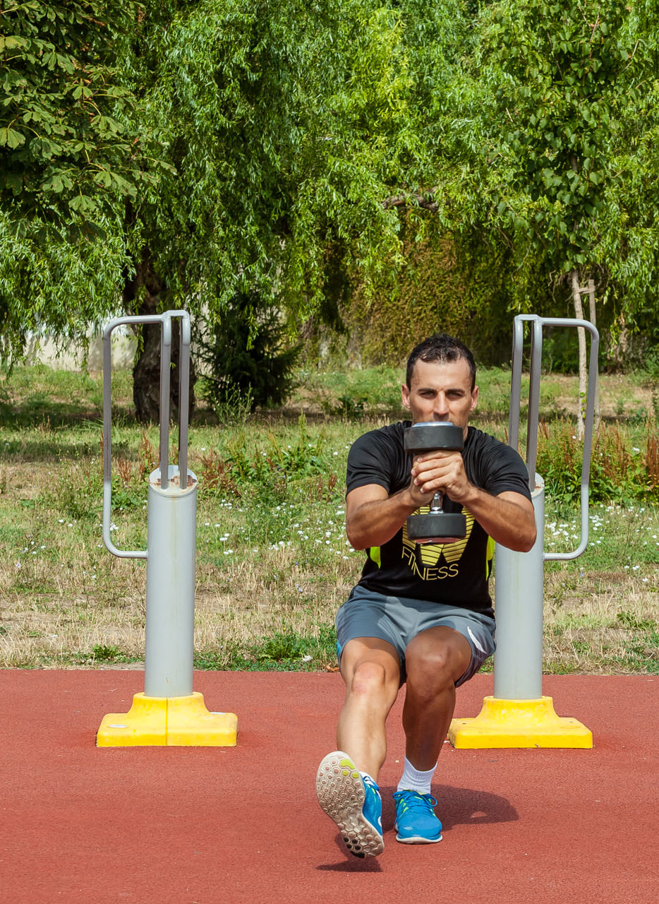 Dumbbell Single Leg Squat frame #7