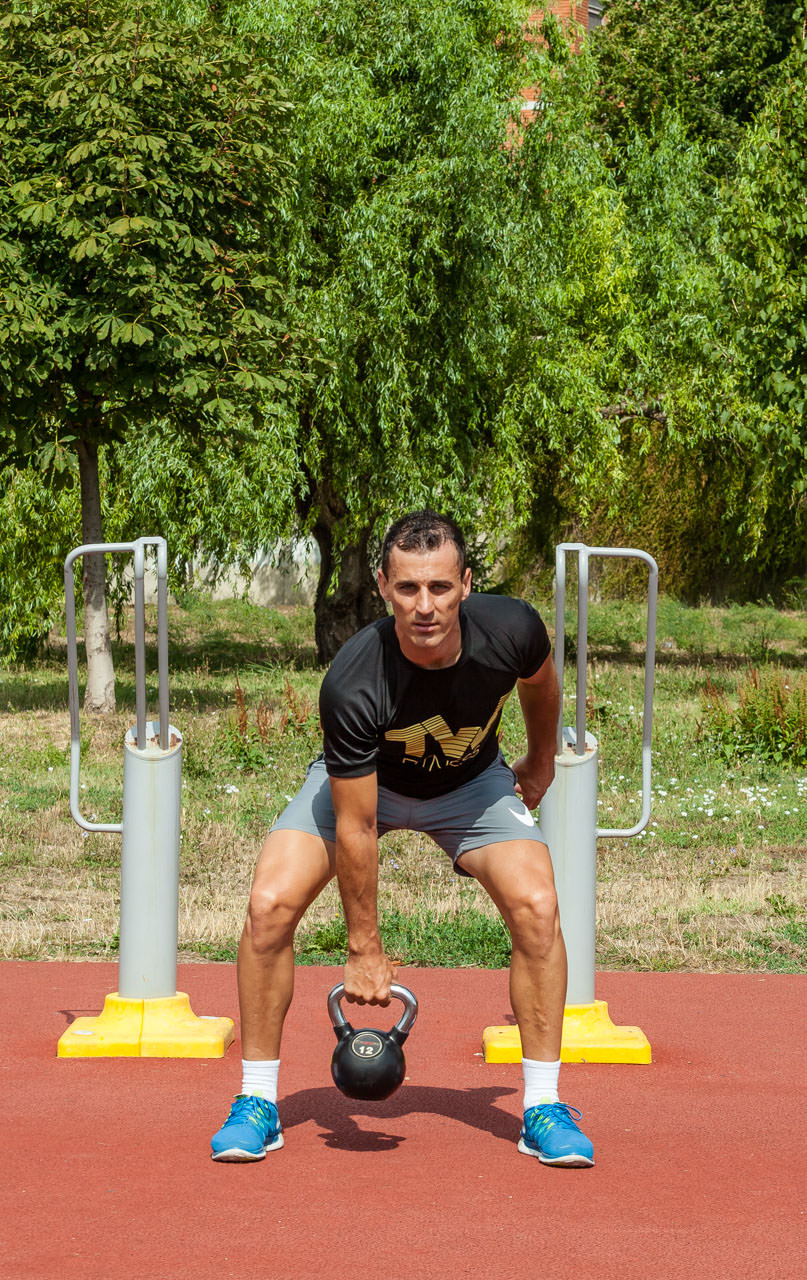 Kettlebell Clean and Press frame #1