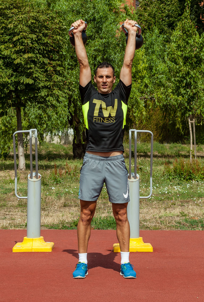 Kettlebell Push Press frame #3
