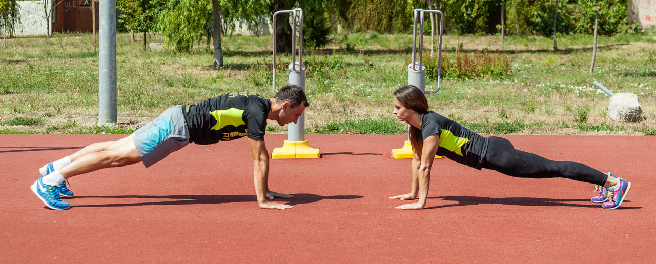 Partners Plank Claps frame #1