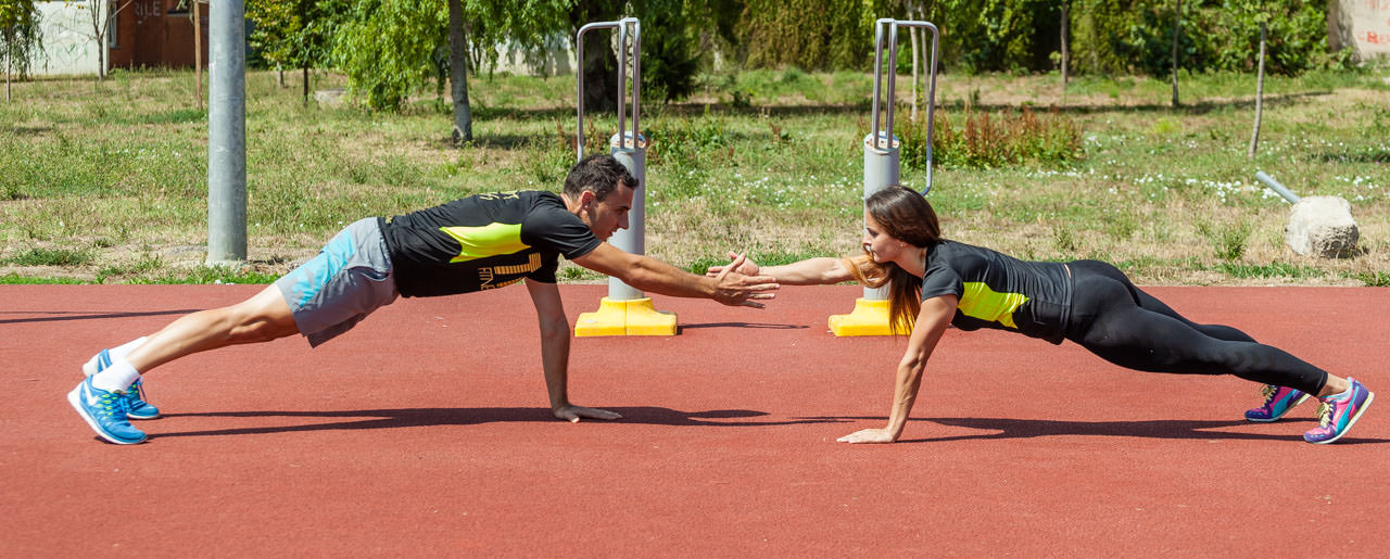 Partners Plank Claps frame #2