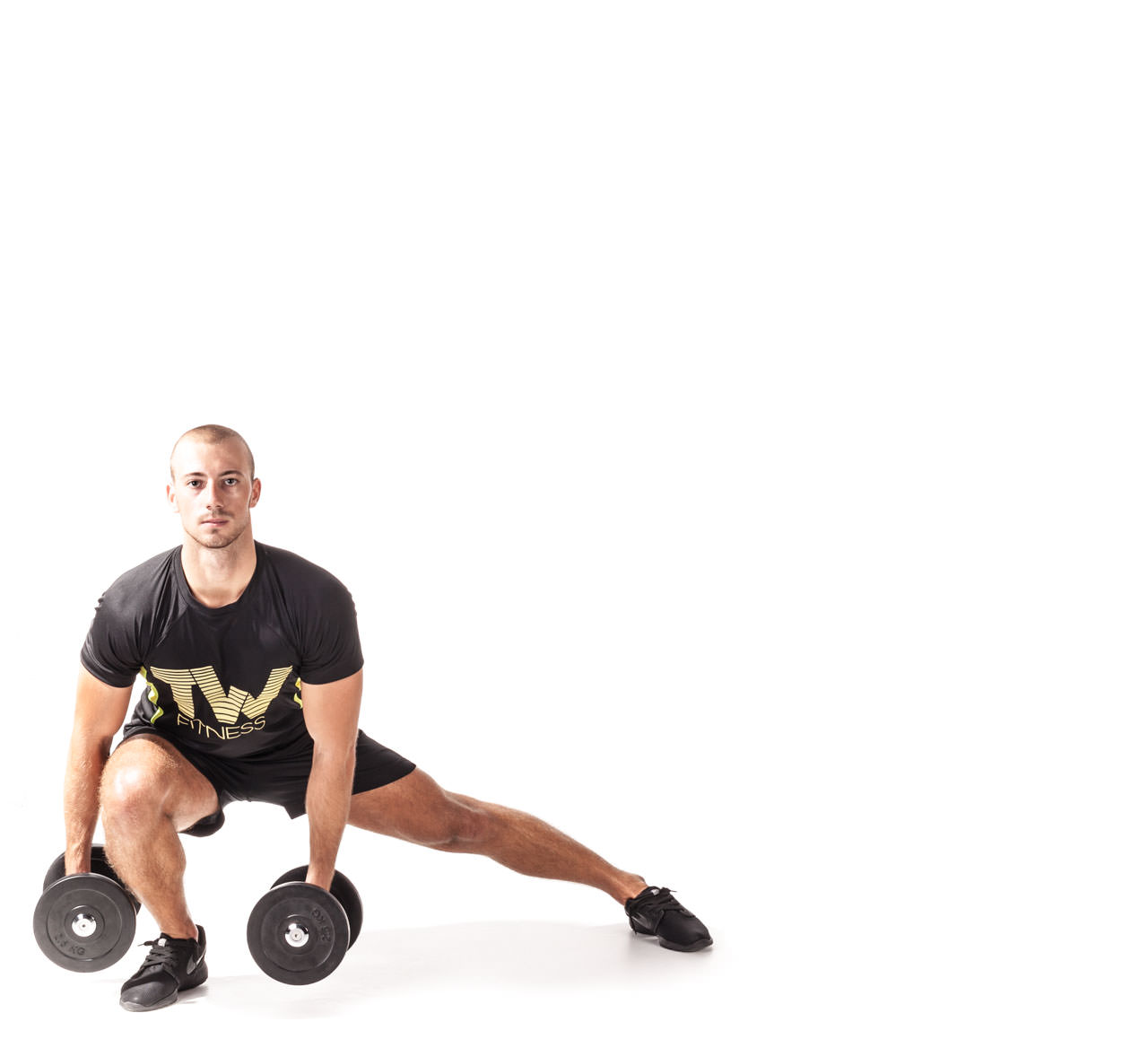 Dumbbell Side Lunge frame #2