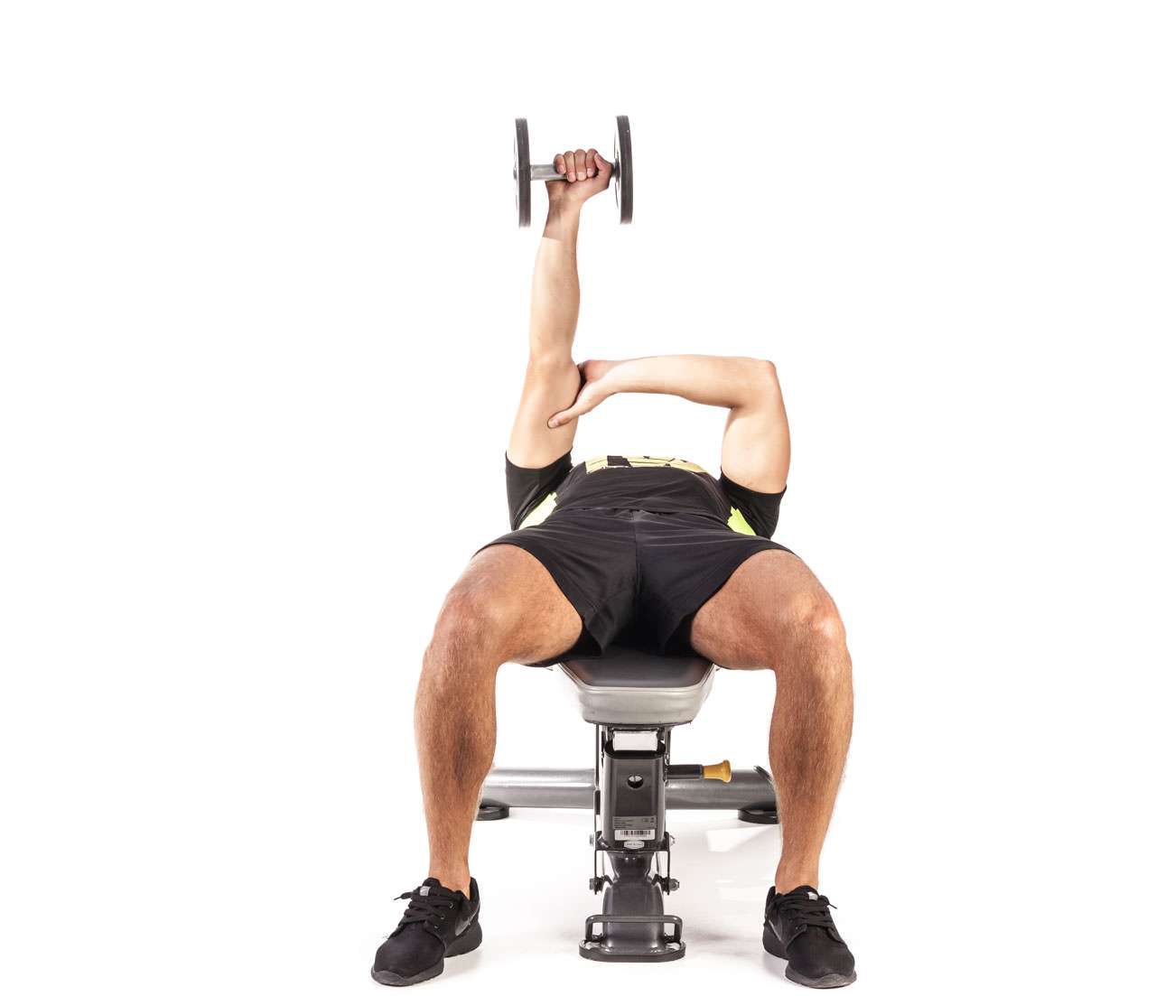 One-Arm Dumbbell Triceps Extension frame #1