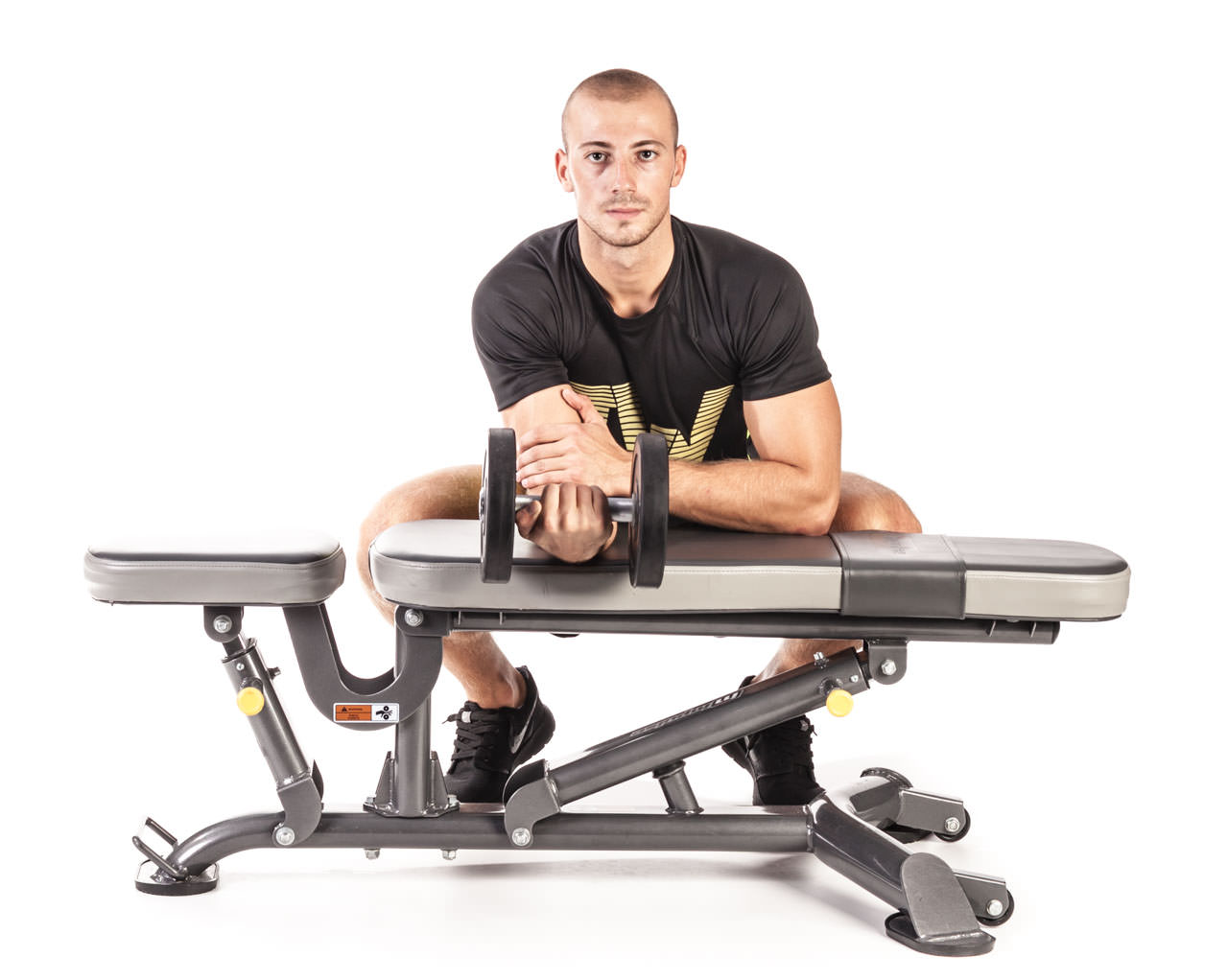 One-Arm Dumbbell Wrist Curl Over a Bench frame #2