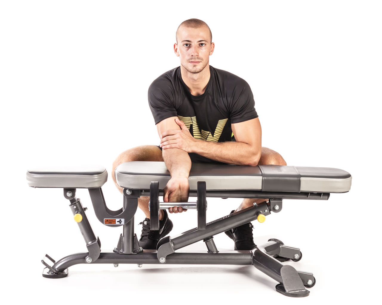 One-Arm Dumbbell Wrist Curl Over a Bench frame #1