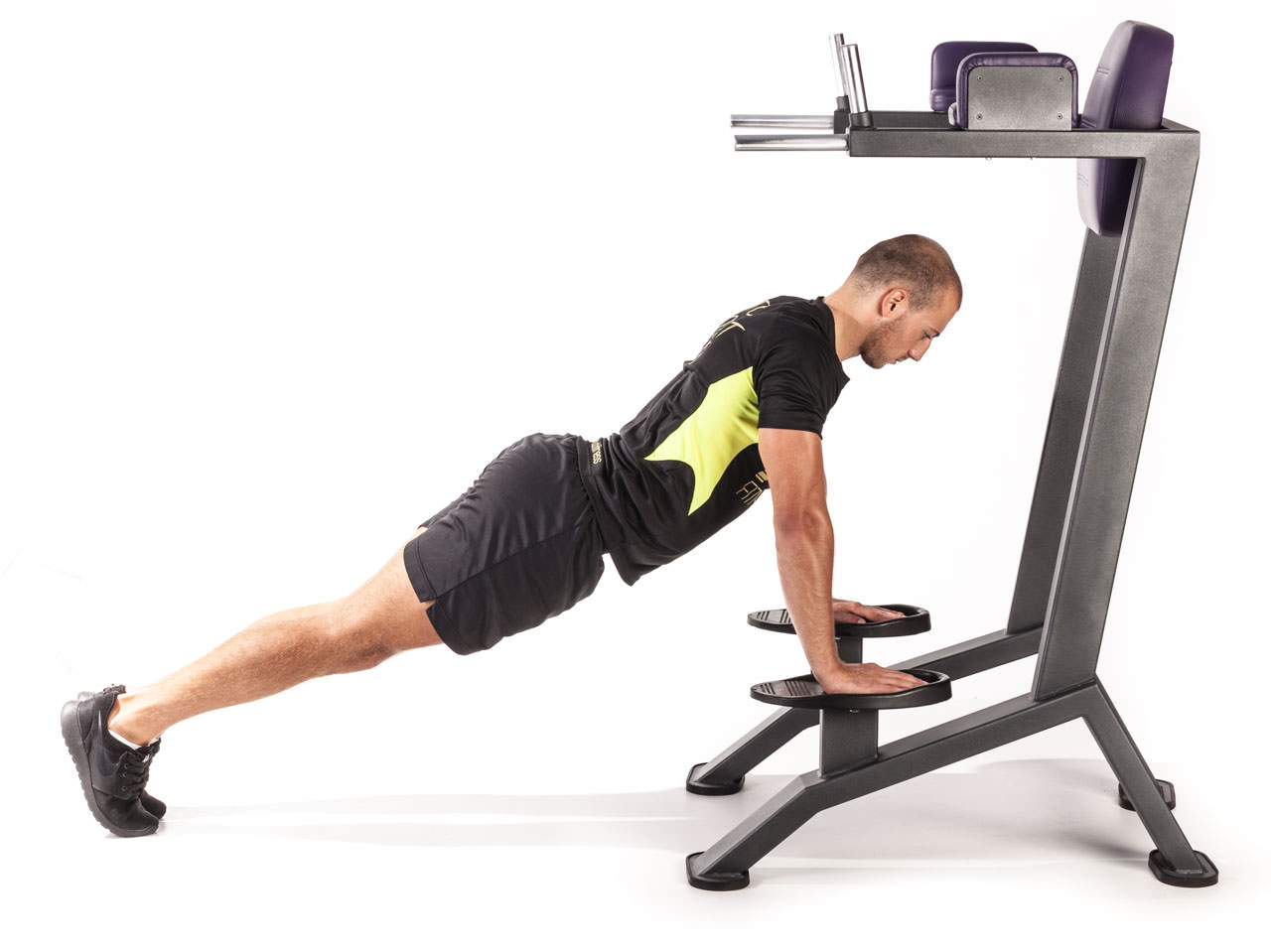 Incline Push-Up Dip Machine frame #1