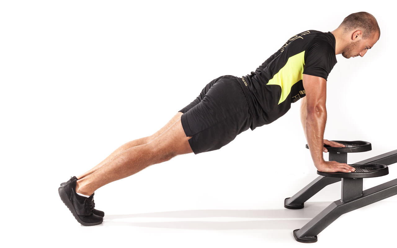 Mountain Climbers with Hands on Bench frame #1