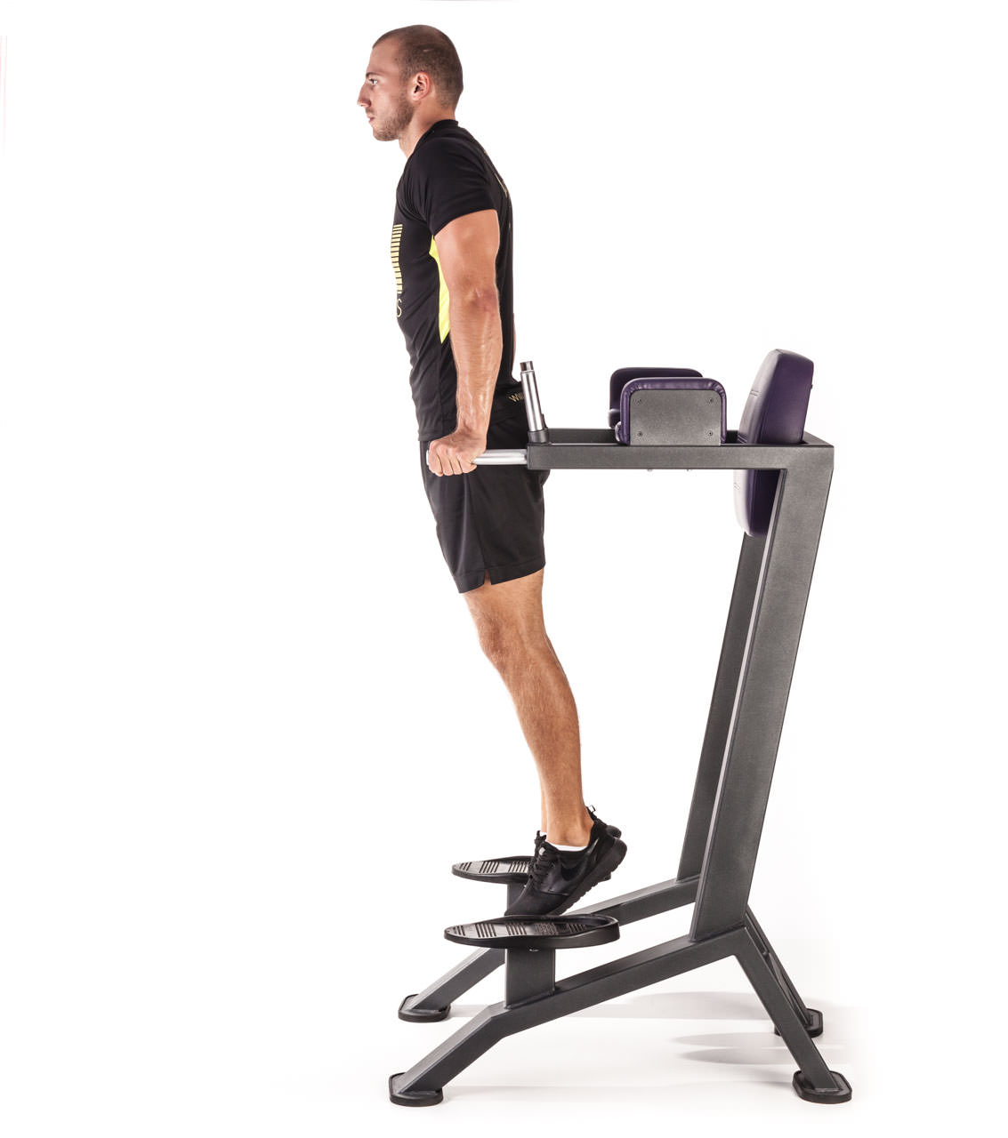 Vertical Bench Leg Raises frame #1