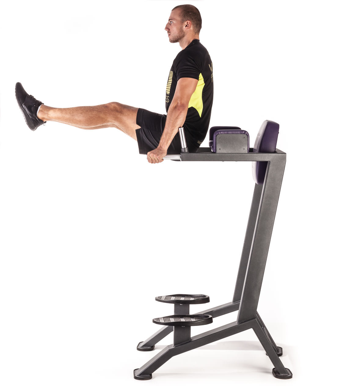 Vertical Bench Leg Raises frame #2