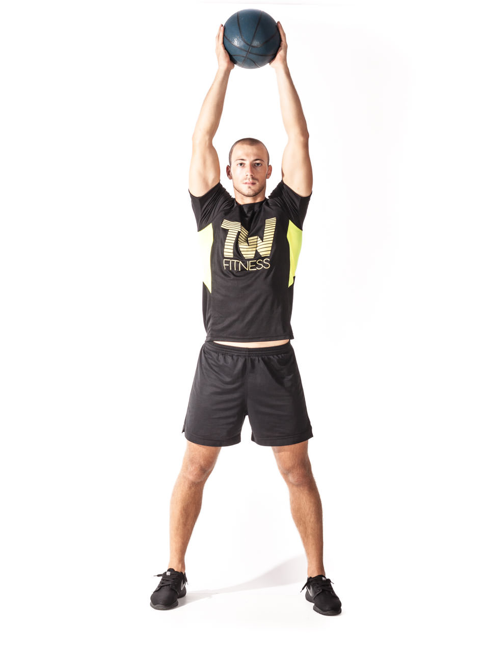 Medicine Ball Overhead Squat | Total Workout Fitness