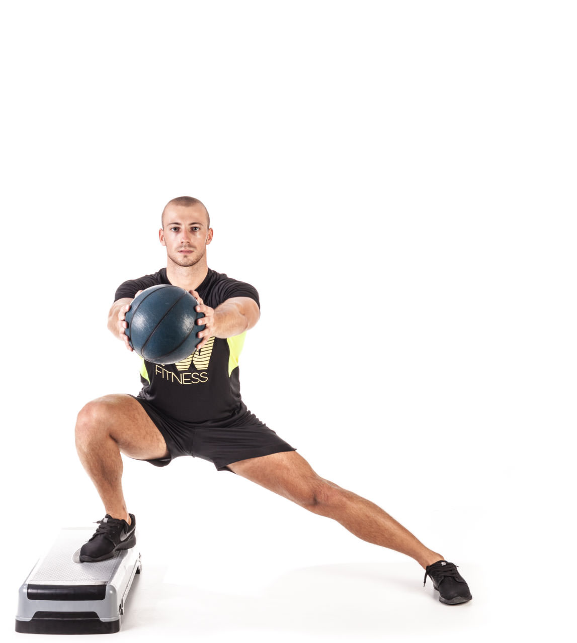 Medicine Ball Step Side Lunge frame #2