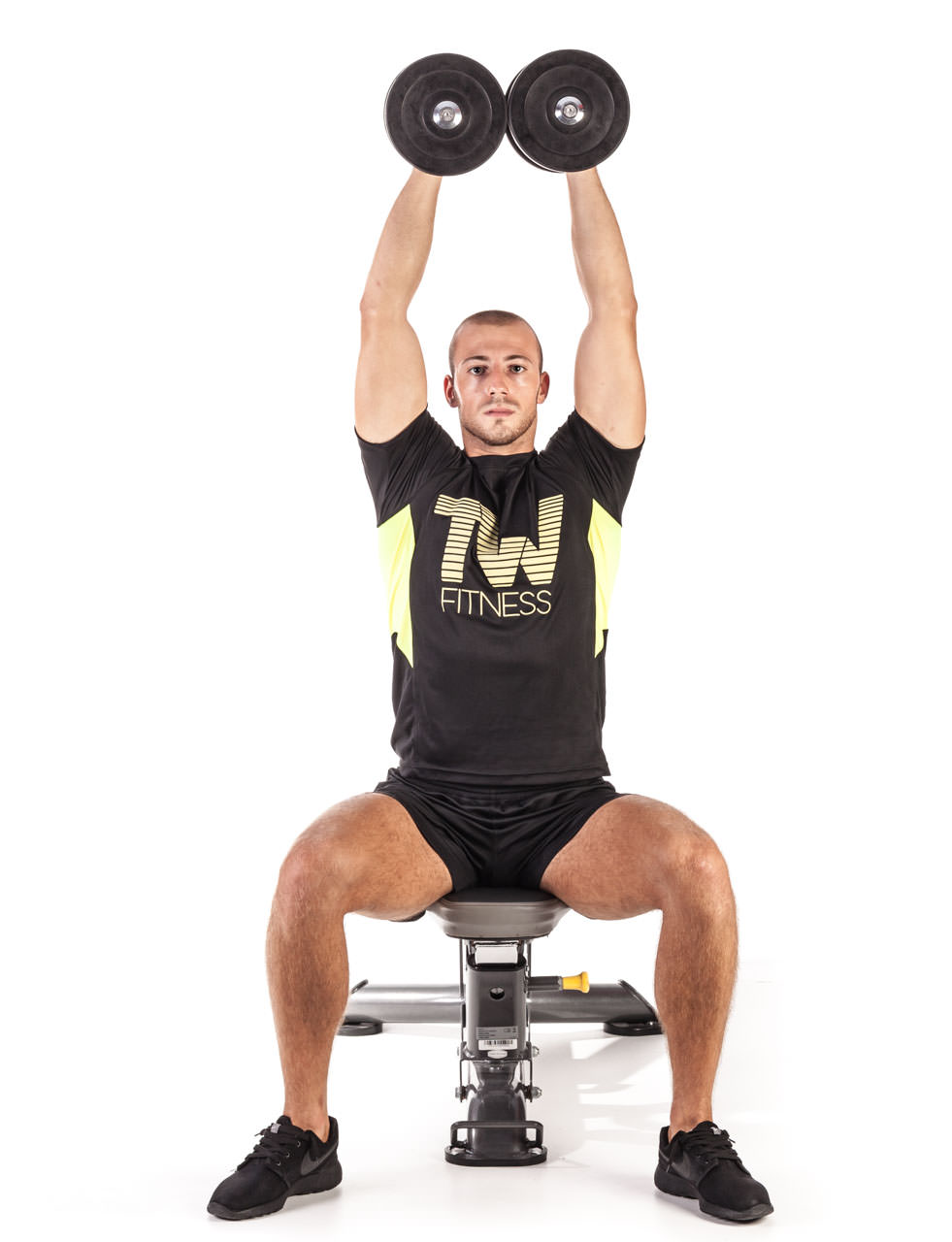 Seated Dumbbell Curl Press frame #2