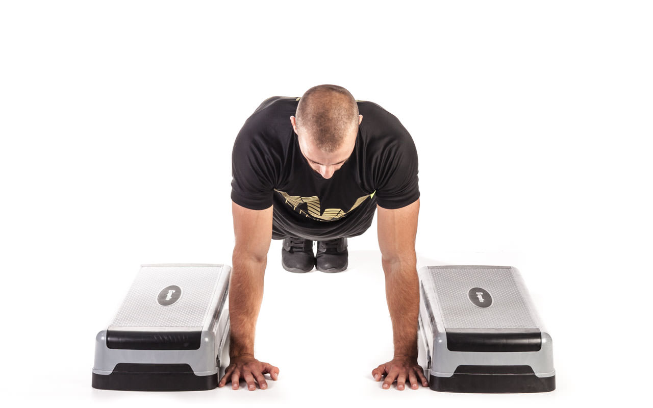 Incline Depth Push-Up frame #1
