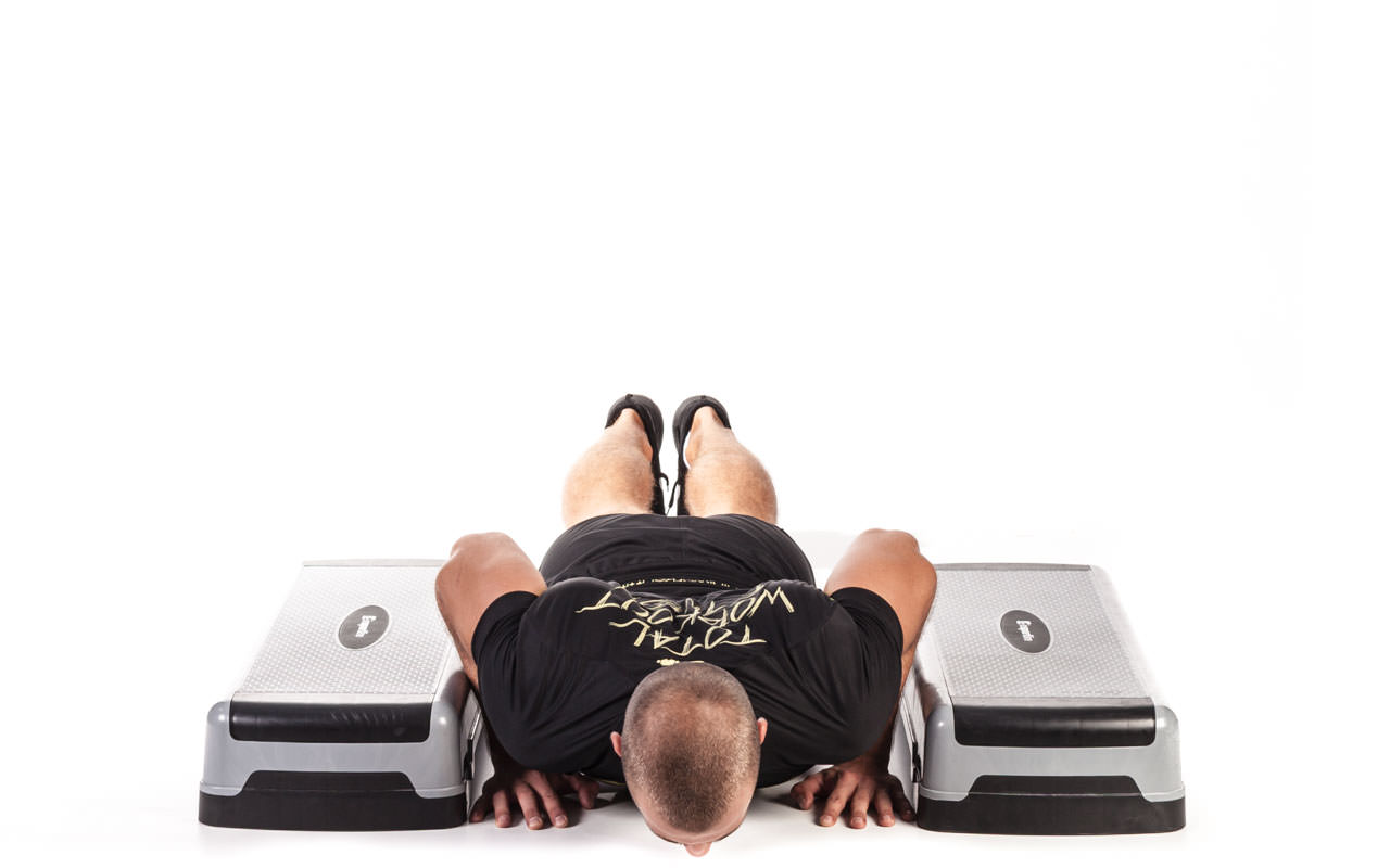 Incline Depth Push-Up frame #2