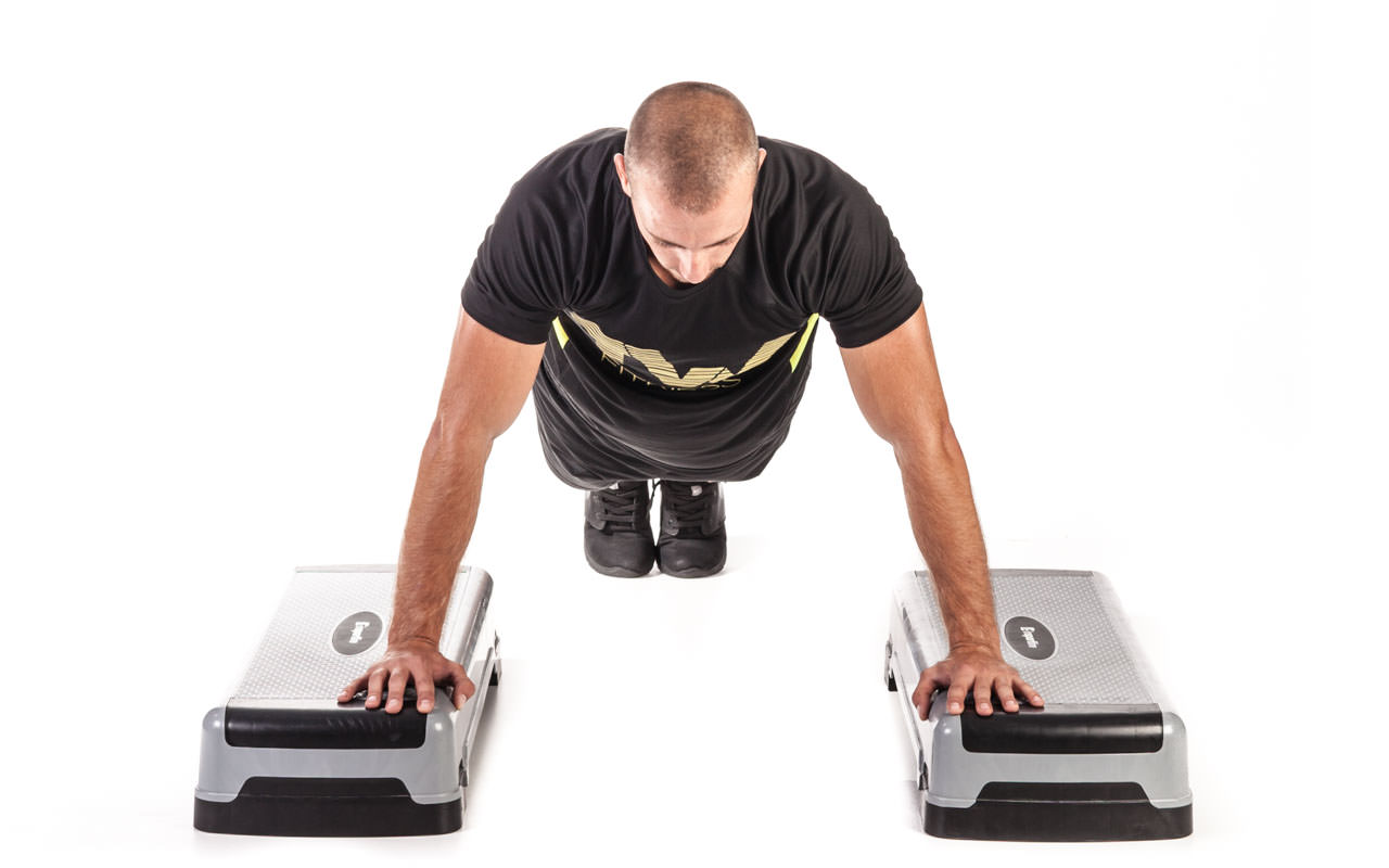 Incline Depth Push-Up frame #6