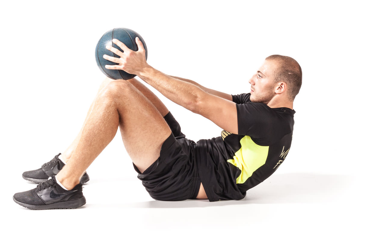 Medicine Ball Crunch frame #2