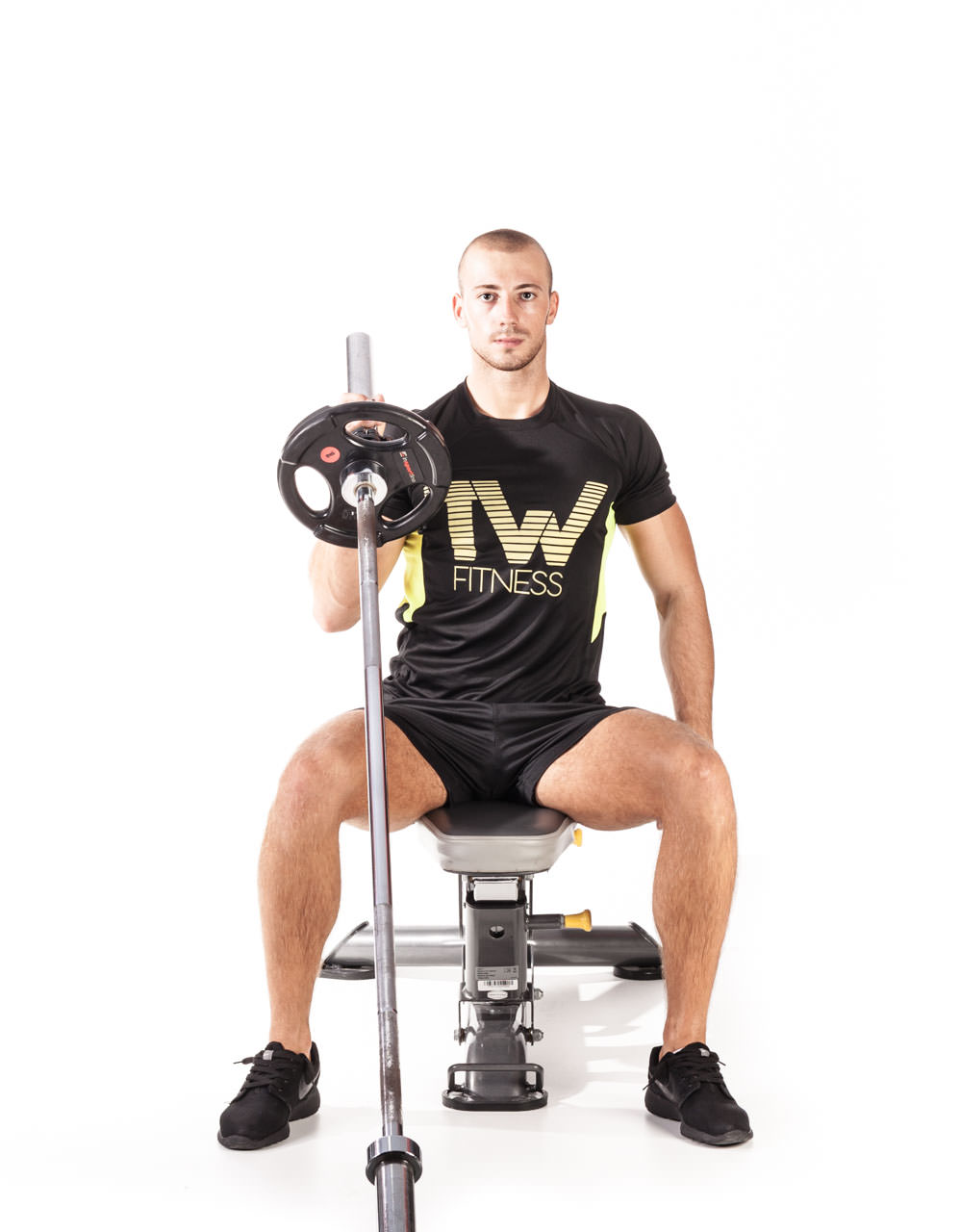 Seated One-Arm Landmine Shoulder Press frame #1