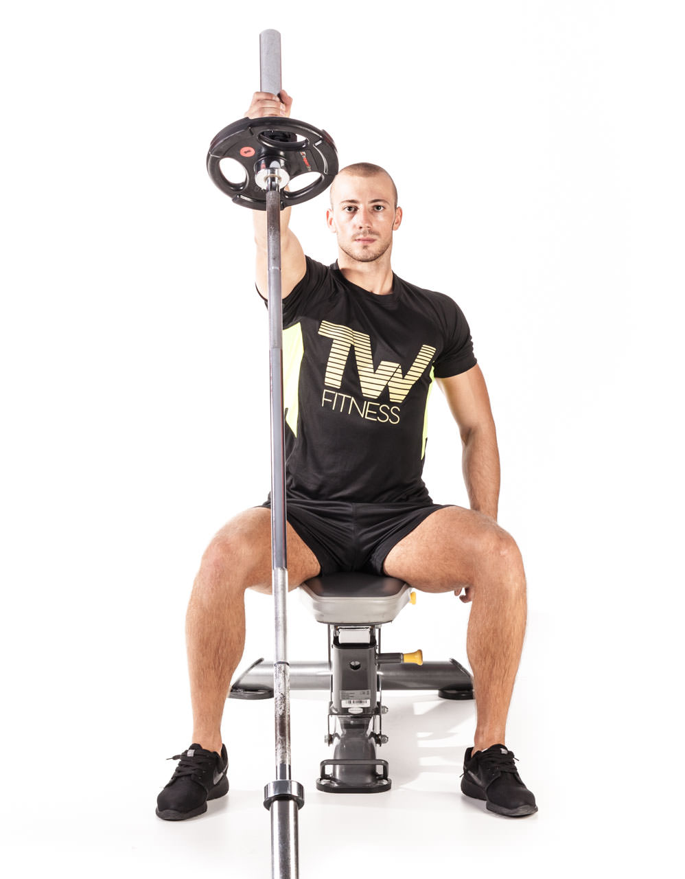 Seated One-Arm Landmine Shoulder Press frame #2