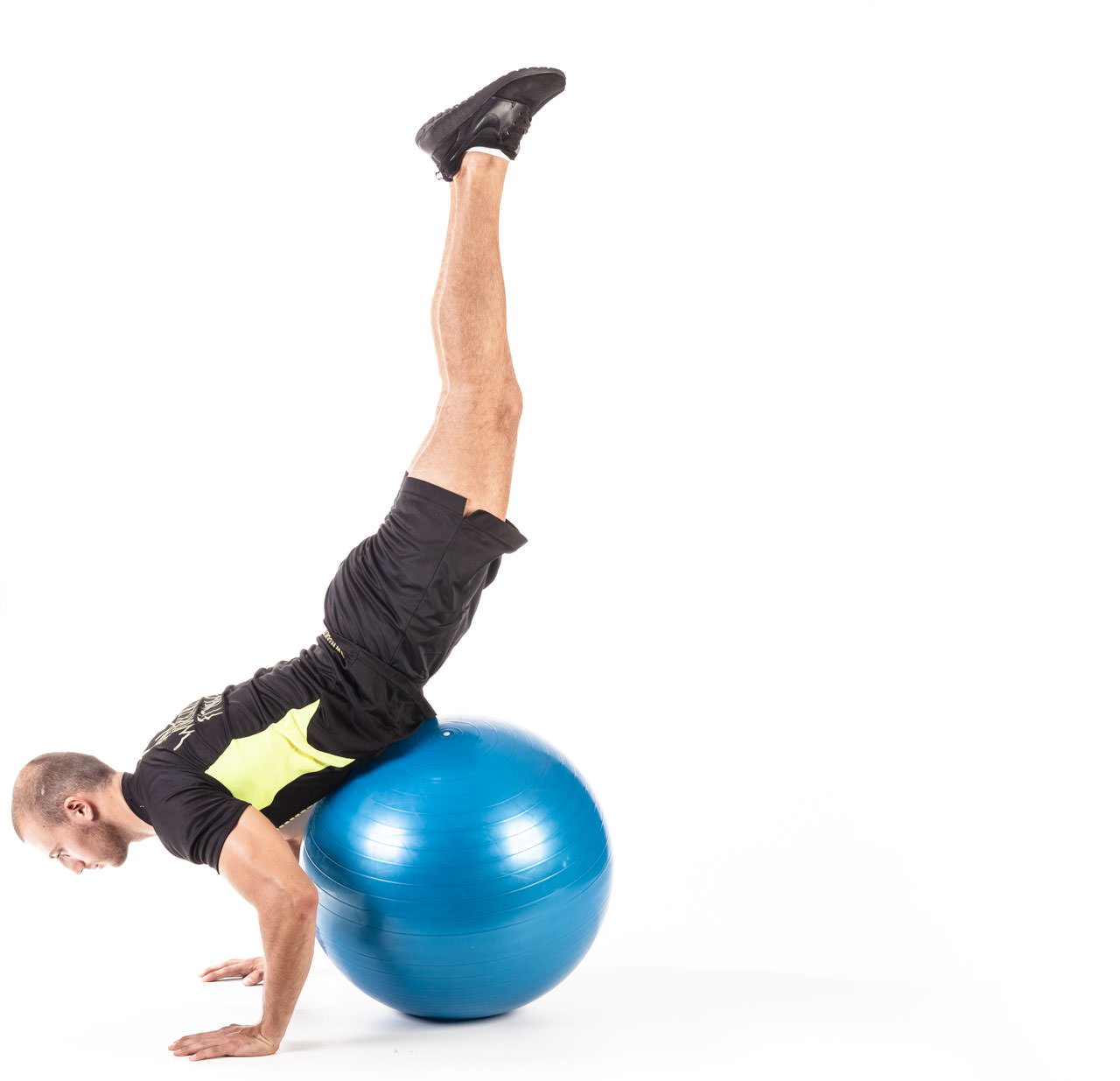 Swiss Ball Prone Leg Raise frame #2