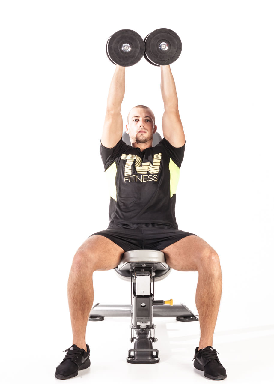 Seated Palms-In Dumbbell Press frame #2