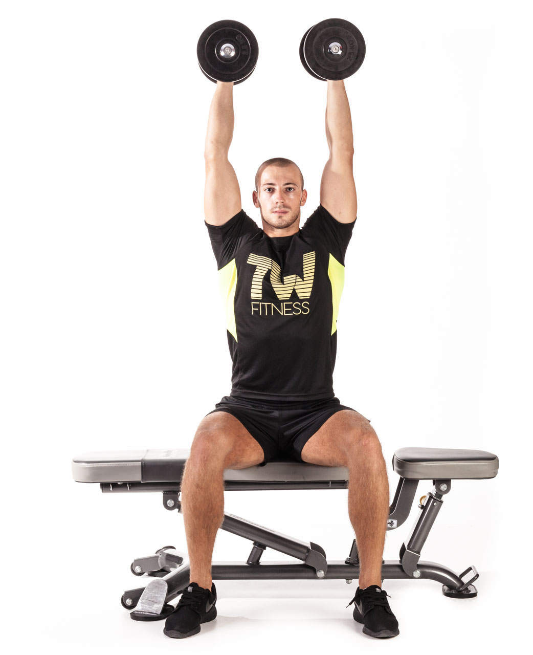 Seated Dumbbell Triceps Extension frame #1