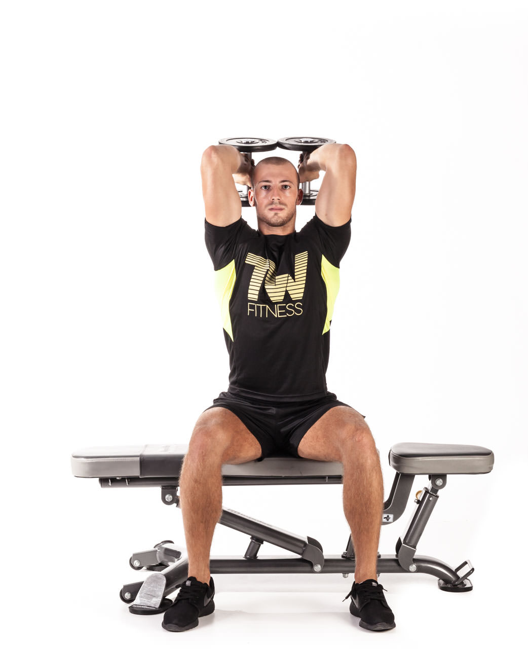 Seated Dumbbell Triceps Extension frame #2