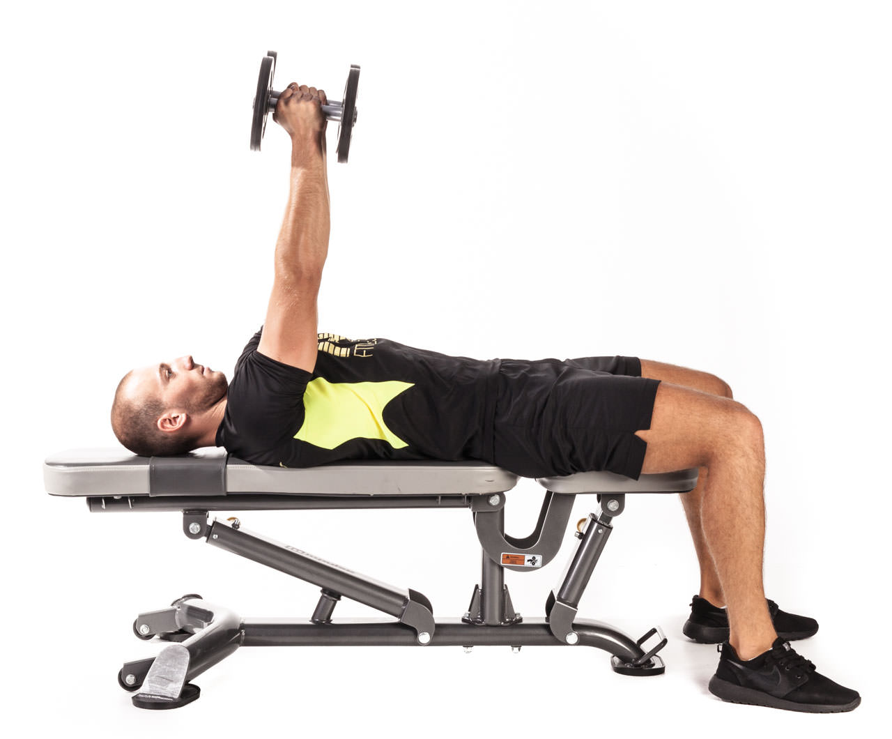 Flat Bench Triceps Extension frame #1